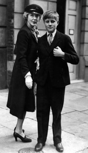 John Julius Norwich in the mid-1940s with his mother, Lady Diana Cooper.