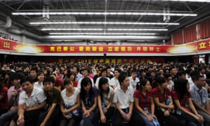Workers at iPhone assembly company Foxconn