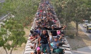 Central American migrants in Juchitan, Oaxaca, Mexico.