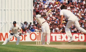 Viv Richards hits out on his way to 189 not out against England in 1984.