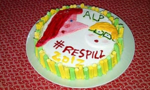 Lisa Martin's Labor respill cake