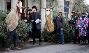 The annual Wassail outside the Subscription Rooms and Museum in Stroud.
