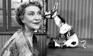 Muffin the Mule presenter Annette Mills in BBC TV show For the Children, first broadcast in 1946.