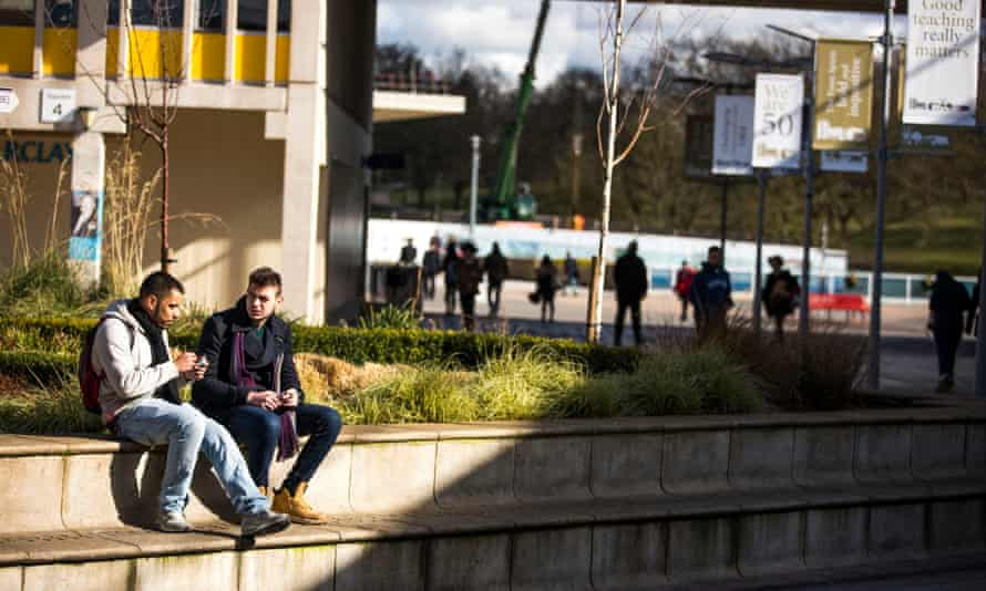 Students at the University of Essex in Colchester
