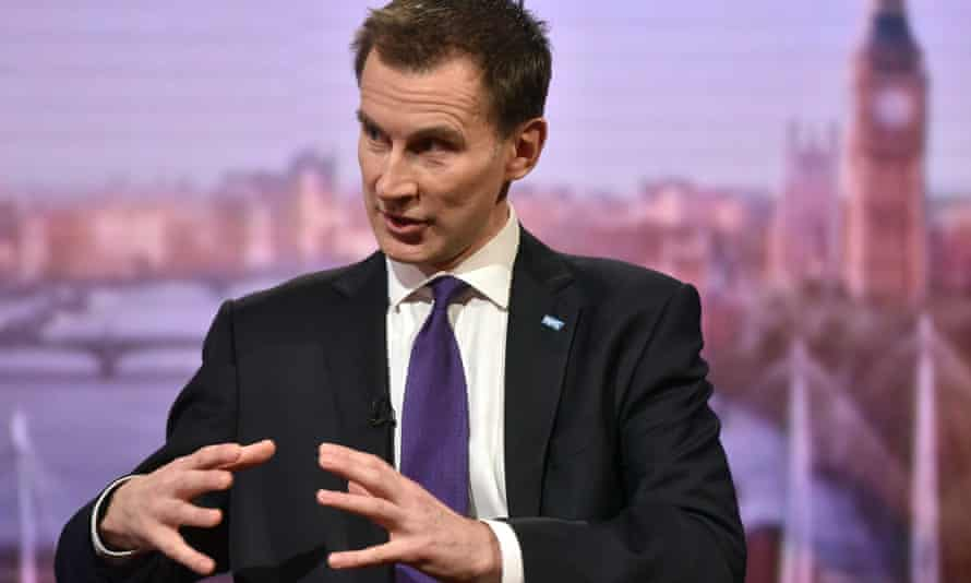 Jeremy Hunt on The Andrew Marr Show