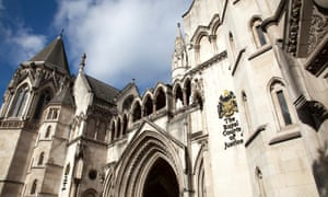 The Royal Courts of Justice on the Strand in London.