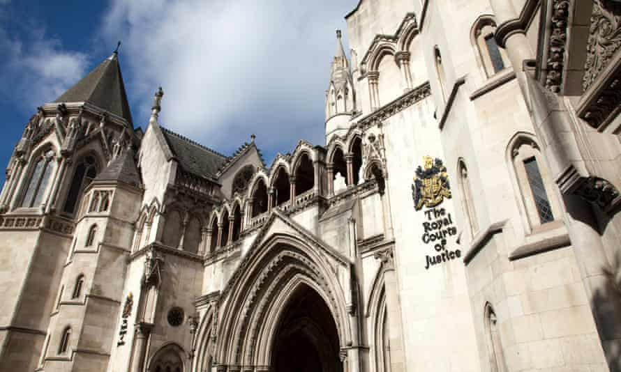 Royal Courts of Justice on the Strand in London