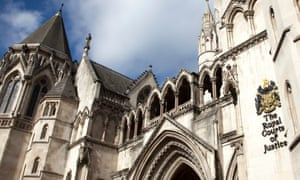 The entrance to the Royal Courts of Justice.