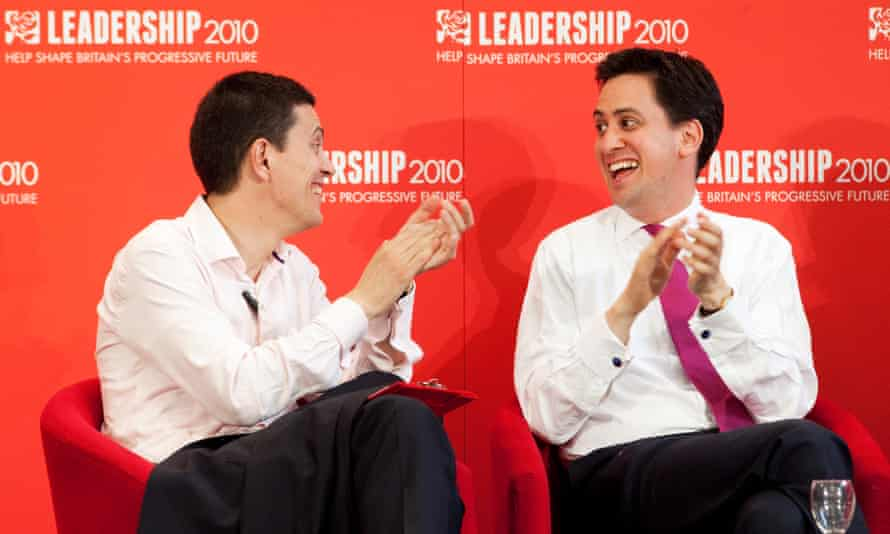 David and Ed Miliband during the Labour leadership campaign in 2010