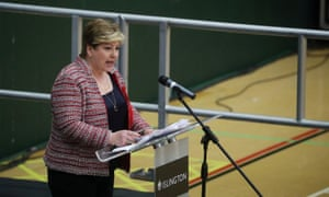 Emily Thornberry speaking at her election count last month.