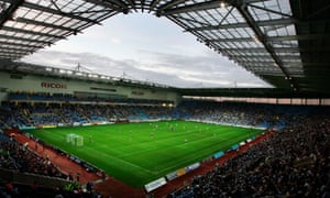The Ricoh Stadium in Coventry, built for the city's football club but at present the home ground of Wasps rugby union club.