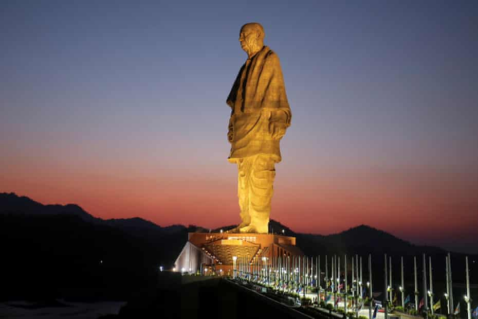 The monumental statue of Vallabhbhai Patel is four times taller than the Statue of Liberty.