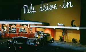 'Drive-ins cater to a sense of nostalgia for the American culture immortalised in films such as Grease and American Graffiti. Pictured is a still of a drive-in  diner in the movie American Graffiti.