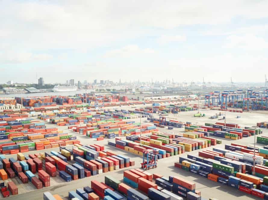 A container terminal at Hamburg by Henrik Spohler, from his series In Between.