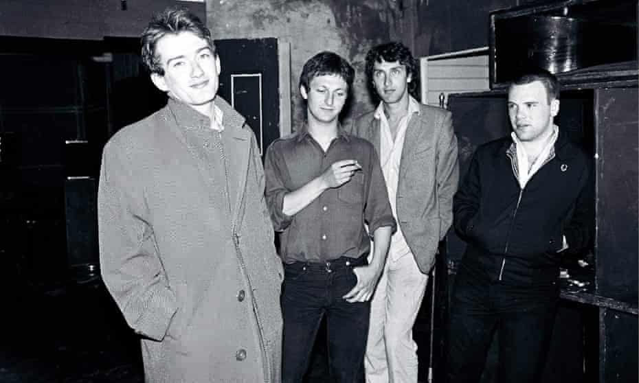 The original Gang of Four lineup … from left, Andy Gill, Dave Allen, Jon King and Hugo Burnham.