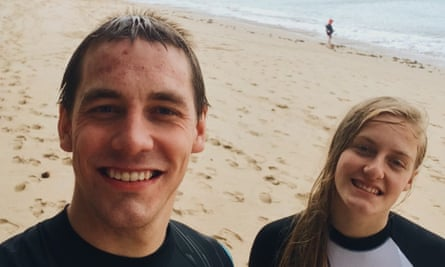 Ryan Hart (left) with his sister, Charlotte Hart, who was murdered by their father Lance along with their mother, in 2016.