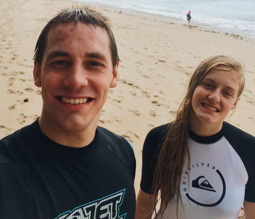 Ryan Hart and sister Charlotte in Australia in August 2015. Charlotte was killed by their father in July 2016
