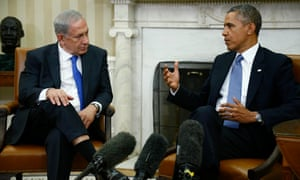 Binyamin Netanyahu with Barack Obama in 2013
