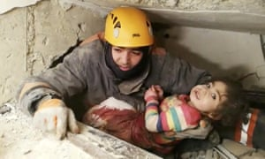 Still image taken from video showing a girl being pulled alive from the rubble in Elazig, Turkey, on 25 January 2020, more than 24 hours after a 6.8-magnitude earthquake struck eastern Turkey.