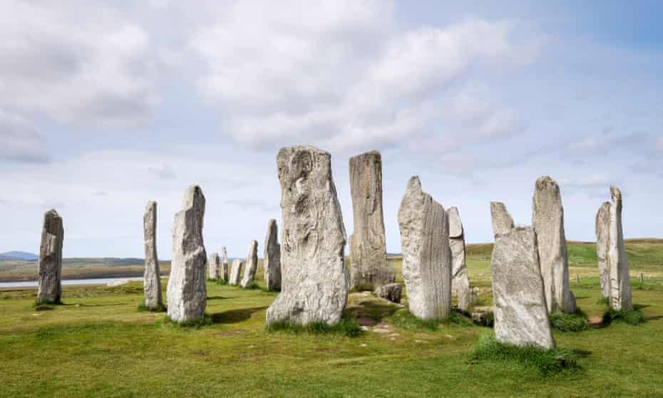 Callanish Stone Circle Neolítico menhires de 4500 aC Calanais Isla de Lewis Outer Hebrides Western Isles Escocia UKE546RN Callanish Stone Circle Neolítico menhires de 4500 aC Calanais Isle of Lewis Outer Hebrides Islas occidentales de Escocia Reino Unido