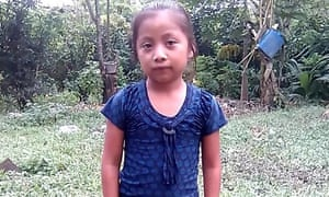 Jakelin Caal Maquin, seven, died in Texas in the custody of US border officials last week.