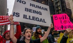 Pro-immigrant rally, 18 December New York City