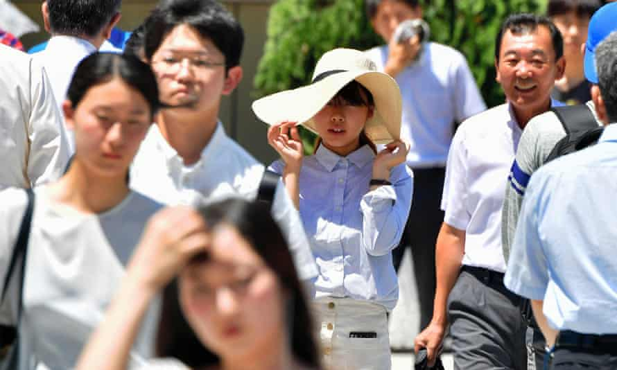 People feel the heat in the city of Nagoya