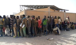 People in Assamaka on the Niger-Algeria border.