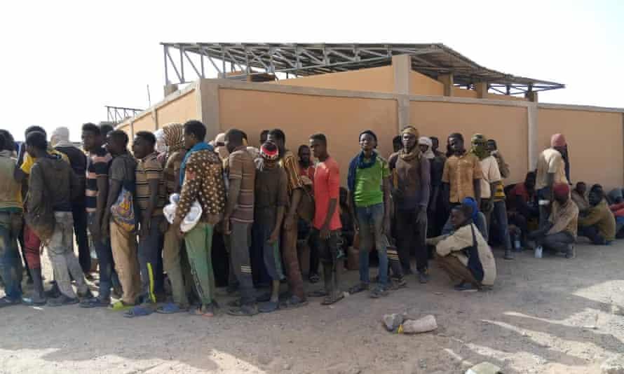 People in Assamaka on the Niger-Algeria border.