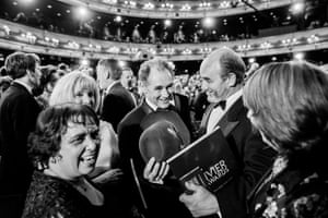 Mark Rylance and David Haig at the Royal Opera House for The Olivier Awards ceremony, 2016