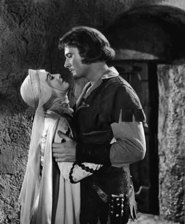 Olivia de Havilland and Errol Flynn in The Adventures of Robin Hood, 1938.