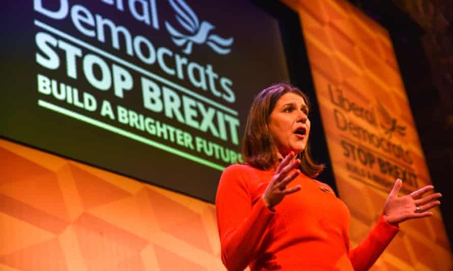 Jo Swinson. leader of the Liberal Democrats, at a 'Rally for the Future' in November.