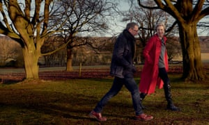 Theresa May with her husband, Philip, photographed by Annie Leibovitz for American Vogue.