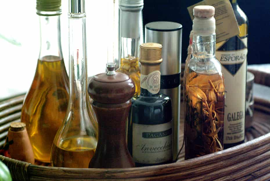 Which vinegar: Wine and cider vinegar, used lightly, is best for for fruit; roast veg will take most vinegar types; while red wine vinegar is a must for roast meats.