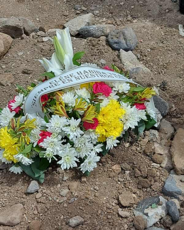 The grave of 18-month old Eléne from Mali in San Lázaro cemetery on Gran Canaria.