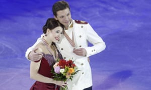 Ekaterina Bobrova, pictured with her partner Dmitry Soloviev, is now ruled out of the world figure skating championships after testing positive for meldonium, .