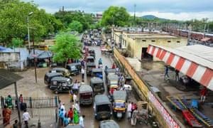 aerial view of gaya, india