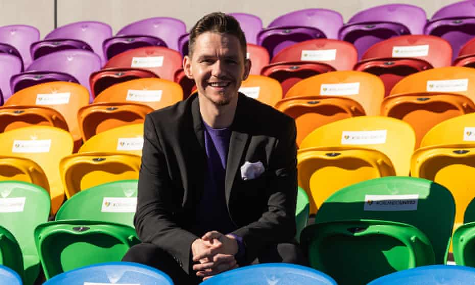 Marc Skinner pictured after being appointed as manager of Orlando Pride in 2019.