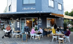 Breakfast at Albert and Moore Cafe in Freshwater.