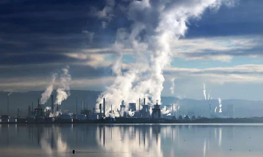Grangemouth oil refinery in Scotland