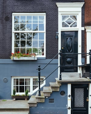 Typical house entrance in central Amsterdam, The Netherlands