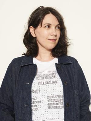 Caroline Wilkinson39, Curator, wears t-shirt, £27, and jacket, £89