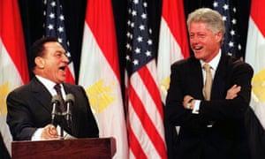 Hosni Mubarak and Bill Clinton in Washington in 1999.