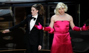 Anne Hathaway and James Franco co-hosting the 2011 Oscars.