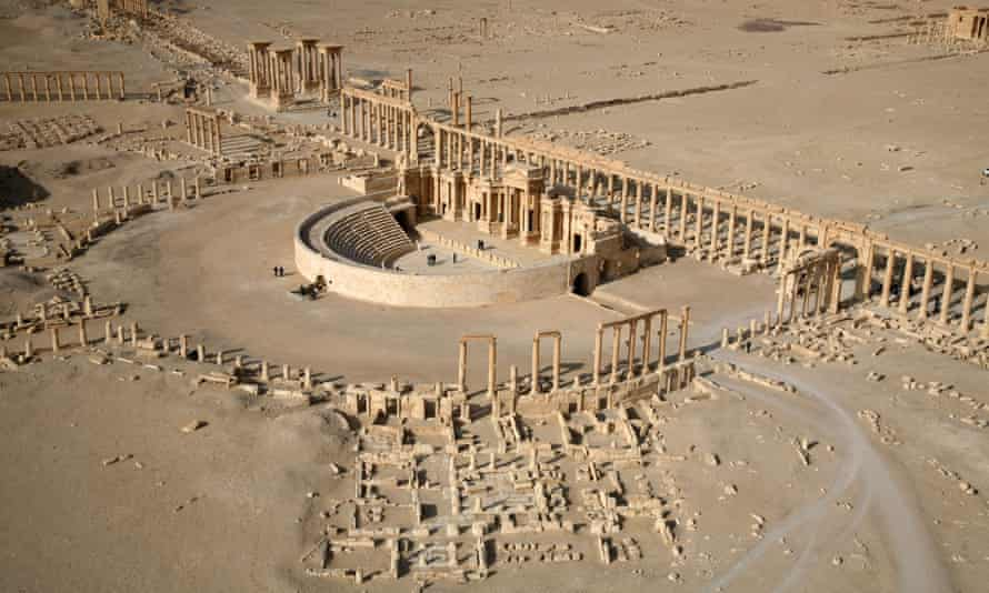 Sands of time … Isis has destroyed several sites in the ancient city of Palmyra, Syria.