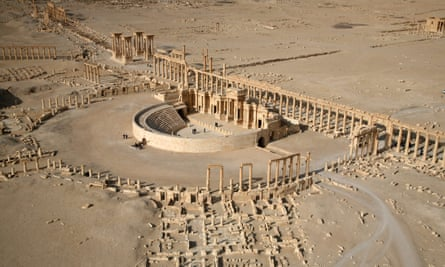 A picture from 2009 shows a part of the ancient city of Palmyra.