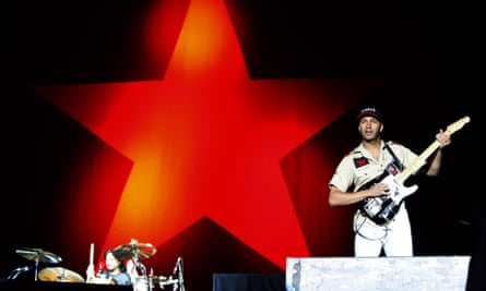 Anger is an energy … Rage Against the Machine's Brad Wilks (left) and Tom Morello onstage in 2008.