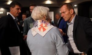 Former prime minister Tony Abbott at the Liberal party democratic reform event in Sydney on Saturday.