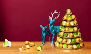 Brussels sprouts tower