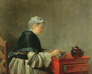 Woman Taking Tea by Jean-Baptiste-Siméon Chardin.